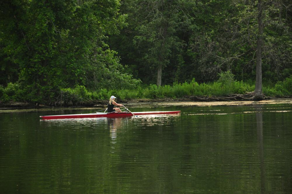 Rowing on ONONDAGA Channel