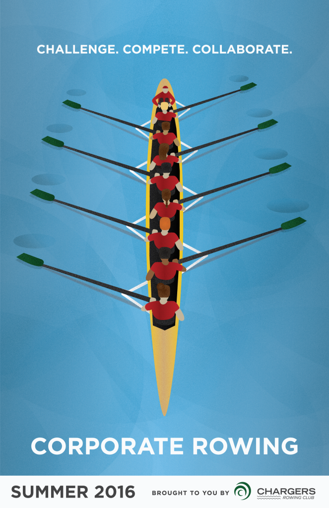 Corporate Rowing Poster